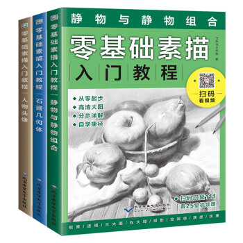 零基础素描入门教程套装(套装共3册)