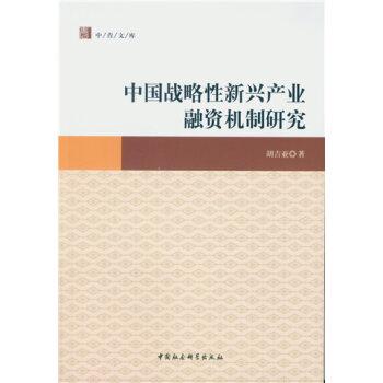 中国战略性新兴产业融资机制研究