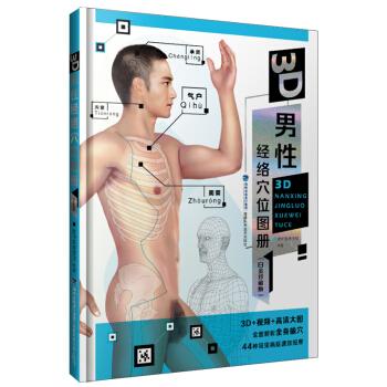 3D男性经络穴位图册(白金珍藏版)