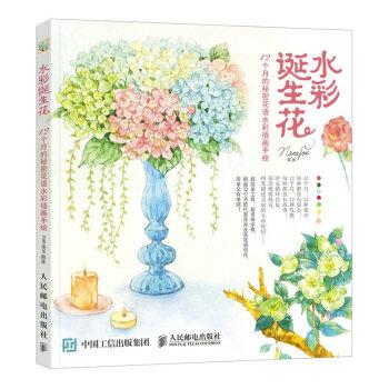 水彩诞生花 12个月的秘密花语水彩插画手绘