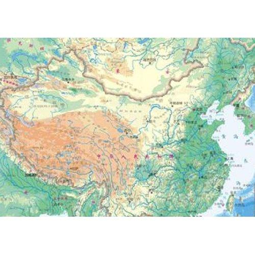 2014版中国地势图(袋装)