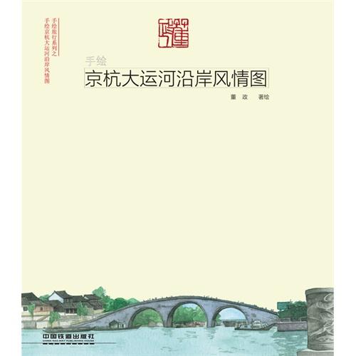 手绘京杭大运河沿岸风情图