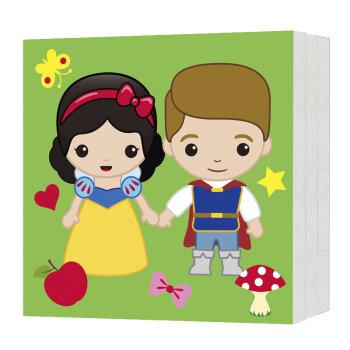 迪士尼涂色画框:白雪公主 贝儿公主 茉莉公主与王子(套装共3套)图片