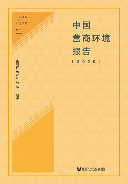 中国营商环境报告(2020)